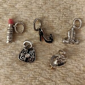 Brighton charms. Set of 5.